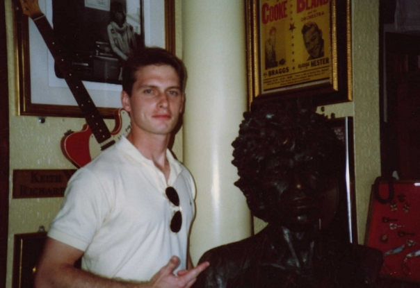 A sculpture in iron (I guess) of Keith Richards of the Rolling Stones when I visited the Hard Rock Cafe in Honolulu circa 1991.